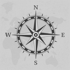 Ancient compass vintage on background illustration