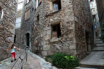 Fototapeta Medieval city of Entrevaux, Alpes-de-Haute-Provence, France obraz