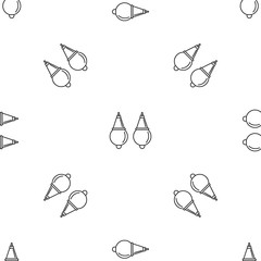 Pearl earrings pattern seamless vector repeat geometric for any web design