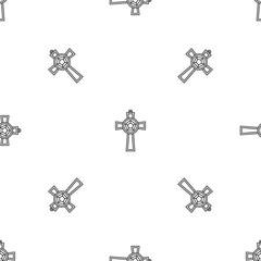Gemstone cross pattern seamless vector repeat geometric for any web design