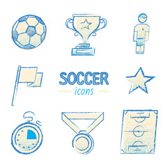 Color Set of vector icon graphic Soccer, Football