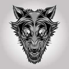 Wolf Head Logo vector Mascot Illustration