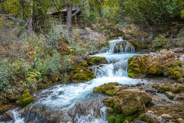 Tomara waterfall located in the province of Gumushane, Turkey