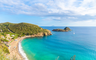 Wall Mural - Panoramic view of  Innamorata beach in Elba Island, Tuscany, Italy