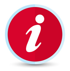 Info icon flat prime red round button