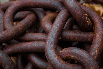 Alte rostige Eisenkette