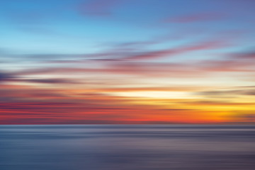 Colorful sunset background in long exposure