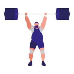 cartoon weightlifter icon