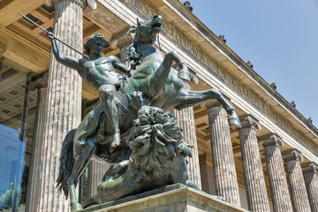 Statue in front of Altes museum in Berlin, Germany.