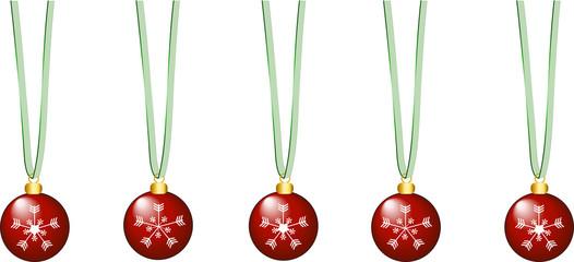 Weihnachtskugeln transparenter Hintergrund
