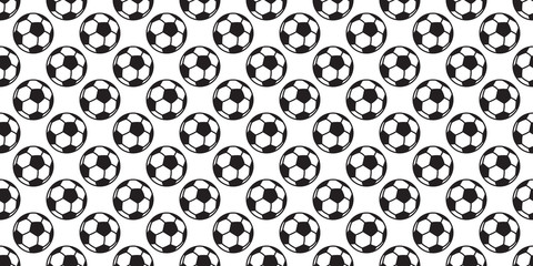 soccer ball seamless pattern vector football sport scarf isolated cartoon background
