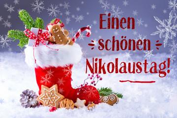 Grußkarte zum Nikolaus