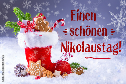 Grußkarte Zum Nikolaus Stockfotos Und Lizenzfreie Bilder Auf