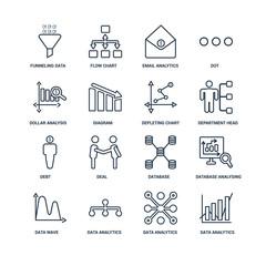 Data analytics, analytics circular, flow, wave, Database Analysi