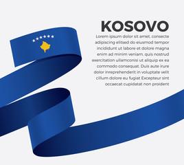 Kosovo flag, vector illustration on a white background