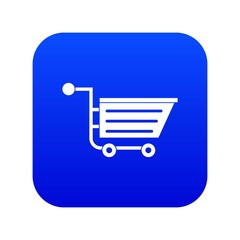 Sale shopping cart icon digital blue for any design isolated on white vector illustration