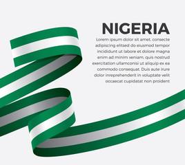Nigeria flag, vector illustration on a white background