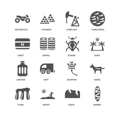 Mummy, Oasis, Scarab, Stone, Horse, Motorcycle, Chest, Canteen,