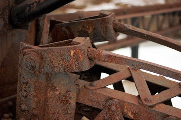 old iron rusted metal beam