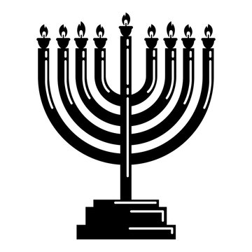 Menorah icon. Simple illustration of menorah vector icon for web design isolated on white background