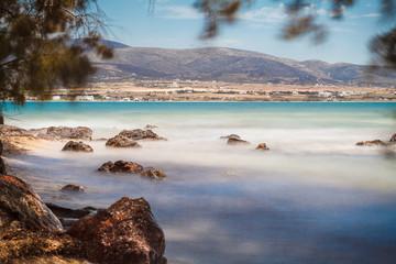 Griechischer Strand, Langzeitbelichtung