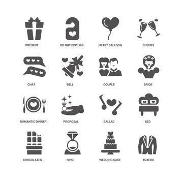 Tuxedo, Bell, Present, Do not disturb, Bed, Ballad, Proposal, We