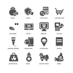 Money, Laptop, Purse, Shield, Invoice, Placeholder, Smartphone,