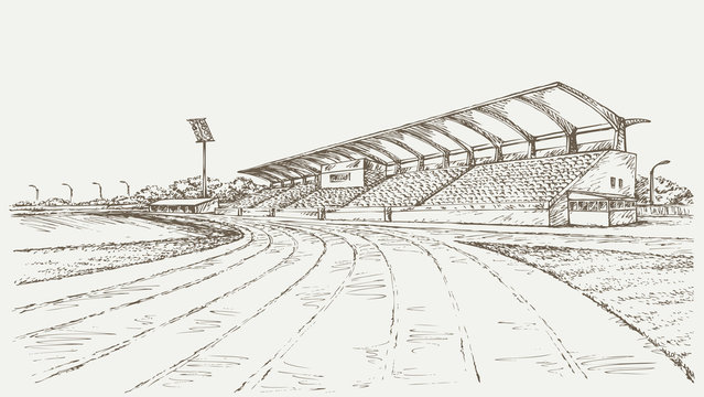 Small Stadium. Vector sketch