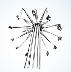 Carousel. Vector drawing