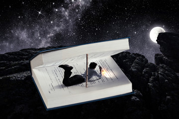 Book that takes you to another reality. Mixed media