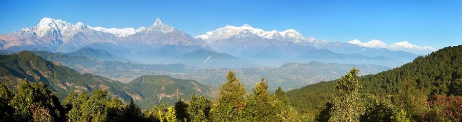 MountAnnapurna range, Nepal Himalayas mountains