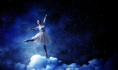 Ballet dancer in jump