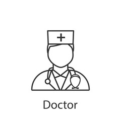 Doctor icon. Element of profession avatar icon for mobile concept and web apps. Detailed Doctor icon can be used for web and mobile