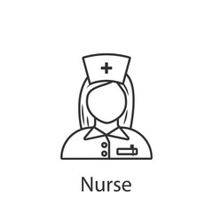 Nurse icon. Element of profession avatar icon for mobile concept and web apps. Detailed Nurse icon can be used for web and mobile