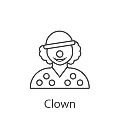Clown icon. Element of profession avatar icon for mobile concept and web apps. Detailed Clown icon can be used for web and mobile