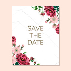 Save the date pattern isolated on copy space