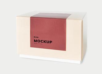 Obraz Simple packaging paper box mockup - fototapety do salonu