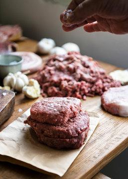 Beef patties food photography recipe idea