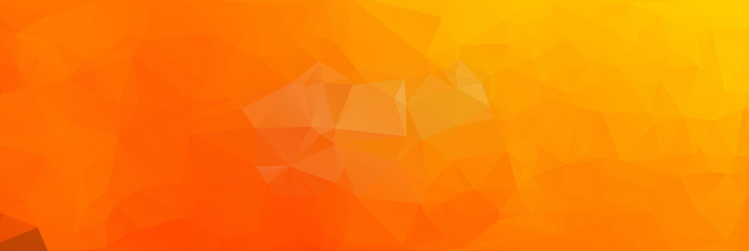 Light Orange polygonal illustration, which consist of triangles. Geometric background in Origami style with gradient. Triangular design for your business