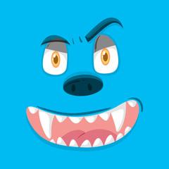 BLue monster facial expression