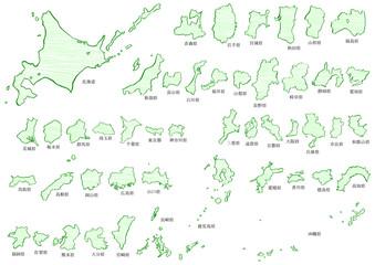日本地図クレヨン