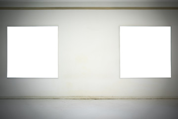 Empty white canvas on the wall, Backgrounds