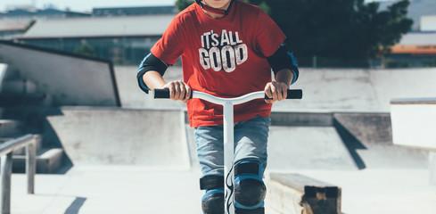 Having fun in the skate park