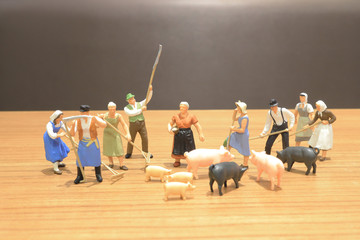 a mini of figure of the farm