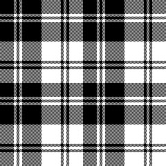 Plaid black white tartan classic seamless pattern