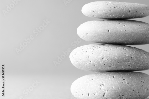 Wall mural Stack of grey massage stones
