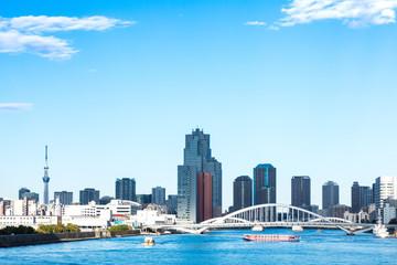 (東京都ー都市風景)竹芝桟橋から望む墨田側風景4
