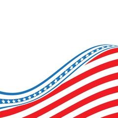 USA flag. United States flag background. Vector eps 10