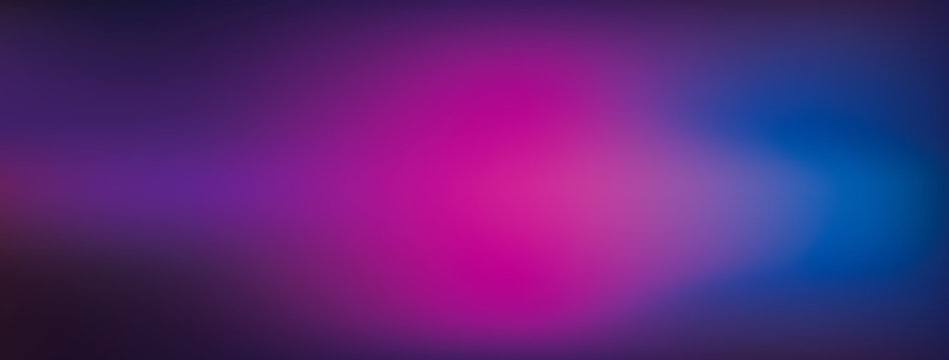 Blended colorful dark pink and blue geadient abstract banner background