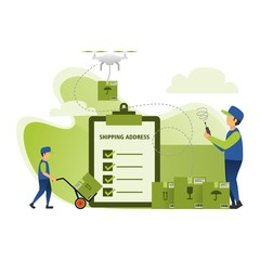 express package delivery services using drones
